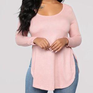 3/$35 FASHION NOVA   Pink Long Sleeve Top